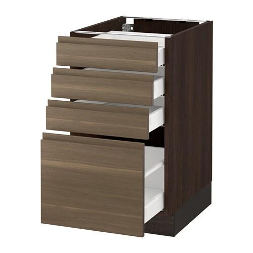 sektion armoire inf 4 tir effet bois brun ma voxtorp effet noyer 18x24x30 ikea. Black Bedroom Furniture Sets. Home Design Ideas