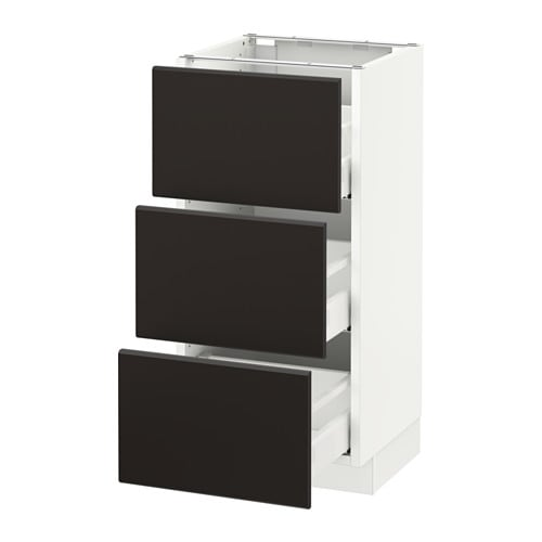 sektion armoire inf 3 tir blanc kungsbacka anthracite 15x15x30 ikea. Black Bedroom Furniture Sets. Home Design Ideas