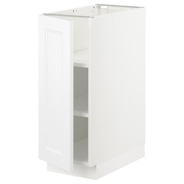 """SEKTION Armoire inférieure avec tablettes, blanc/Axstad blanc mat, 12x24x30 """""""