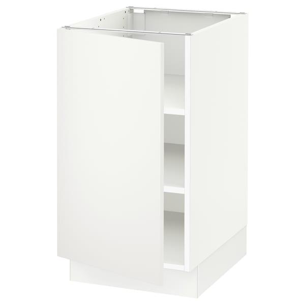 "SEKTION Armoire inférieure avec tablettes, blanc/Häggeby blanc, 18x24x30 """