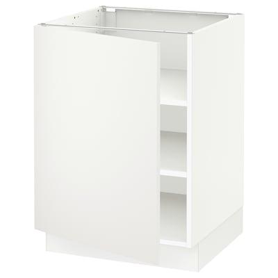 "SEKTION Armoire inférieure avec tablettes, blanc/Häggeby blanc, 24x24x30 """