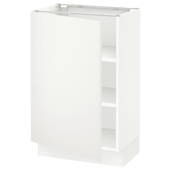 "SEKTION Armoire inférieure avec tablettes, blanc/Häggeby blanc, 21x15x30 """