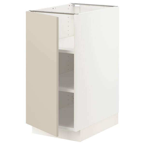 """SEKTION Armoire inférieure avec tablettes, blanc/Havstorp beige, 15x24x30 """""""