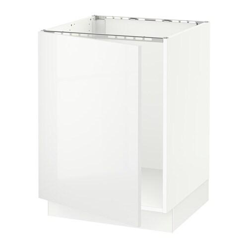 sektion armoire inf rieure pour vier blanc ringhult ultrabrillant blanc ikea. Black Bedroom Furniture Sets. Home Design Ideas