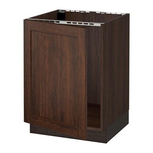 sektion armoire inf rieure pour vier effet bois brun edserum effet bois brun ikea. Black Bedroom Furniture Sets. Home Design Ideas