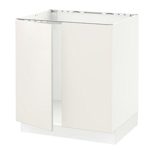 sektion armoire inf rieure pr vier 2portes blanc veddinge blanc 30x24x30 ikea. Black Bedroom Furniture Sets. Home Design Ideas
