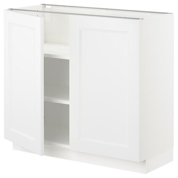 """SEKTION Armoire inférieure tablette/2portes, blanc/Axstad blanc mat, 36x15x30 """""""