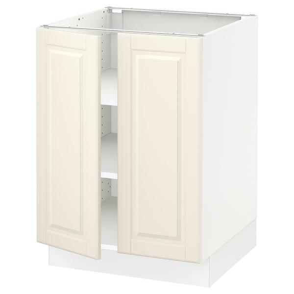 """SEKTION Armoire inférieure tablette/2portes, blanc/Bodbyn blanc cassé, 24x24x30 """""""