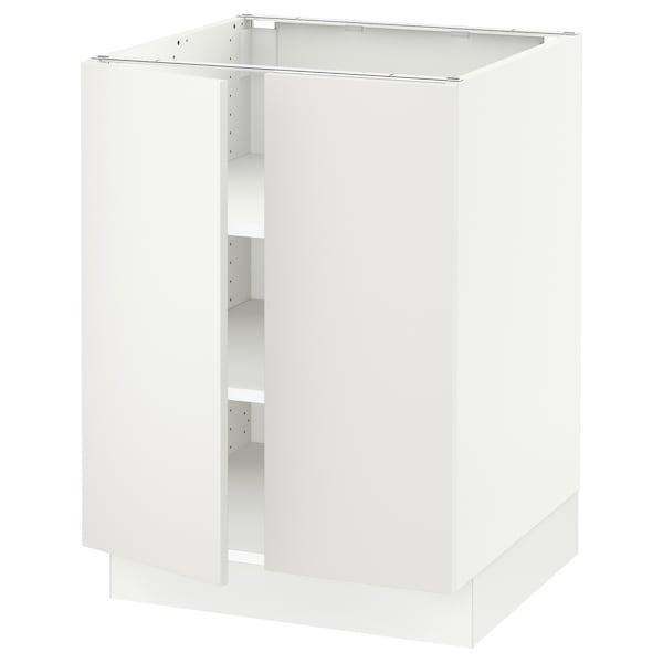 """SEKTION Armoire inférieure tablette/2portes, blanc/Häggeby blanc, 24x24x30 """""""