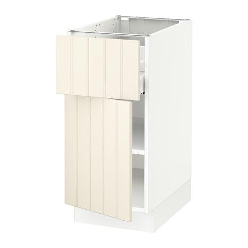 sektion armoire inf rieure tiroir porte blanc ma hittarp blanc cass 15x24x30 ikea. Black Bedroom Furniture Sets. Home Design Ideas