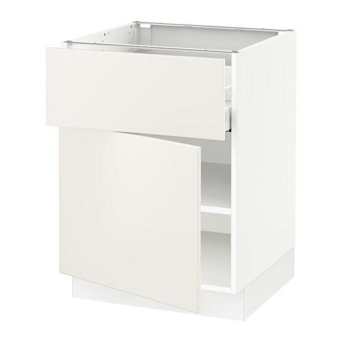 sektion armoire inf rieure tiroir porte blanc ma veddinge blanc 24x24x30 ikea. Black Bedroom Furniture Sets. Home Design Ideas