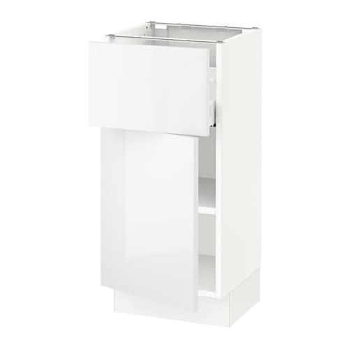sektion armoire inf rieure tiroir porte blanc ma ringhult ultrabrillant blanc 15x15x30. Black Bedroom Furniture Sets. Home Design Ideas