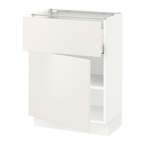sektion armoire inf rieure tiroir porte blanc ma veddinge blanc 24x15x30 ikea. Black Bedroom Furniture Sets. Home Design Ideas