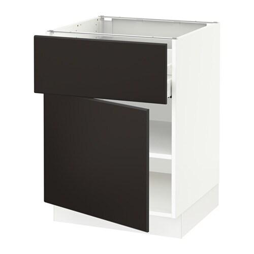 Sektion armoire inf rieure tiroir porte blanc ma for Cuisine kungsbacka ikea