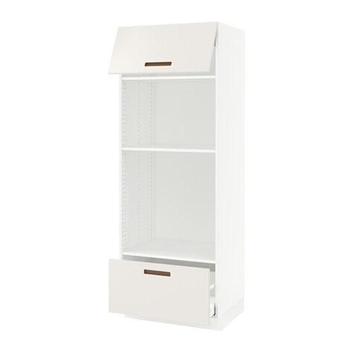 Sektion armoire micro four tiroir porte blanc ma - Armoire cuisine pour four encastrable ...