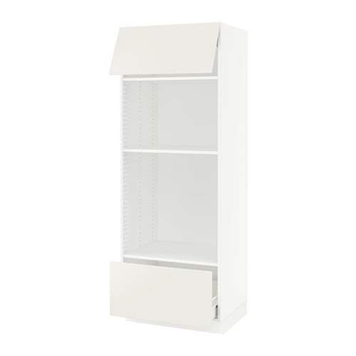 sektion armoire micro four tiroir porte blanc f veddinge blanc ikea. Black Bedroom Furniture Sets. Home Design Ideas