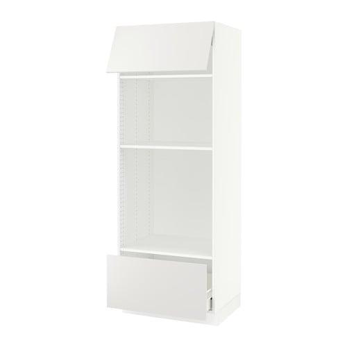 sektion armoire micro four tiroir porte blanc f. Black Bedroom Furniture Sets. Home Design Ideas