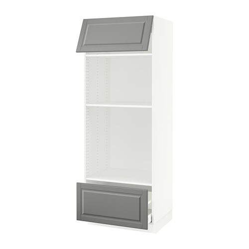 sektion armoire micro four tiroir porte blanc ma bodbyn gris ikea. Black Bedroom Furniture Sets. Home Design Ideas