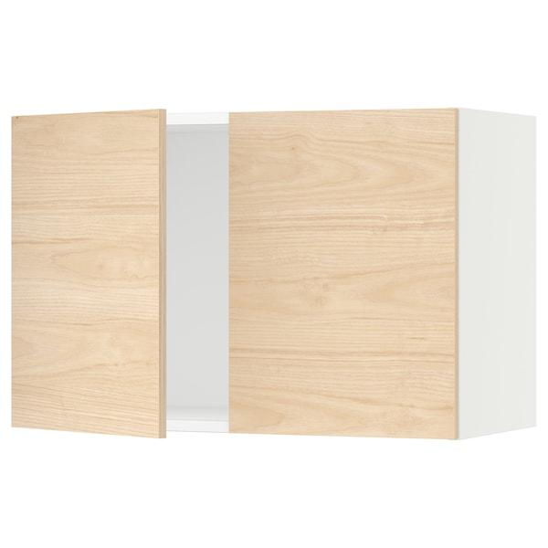 "SEKTION Armoire murale 2 portes, blanc/Askersund effet frêne clair, 30x15x20 """