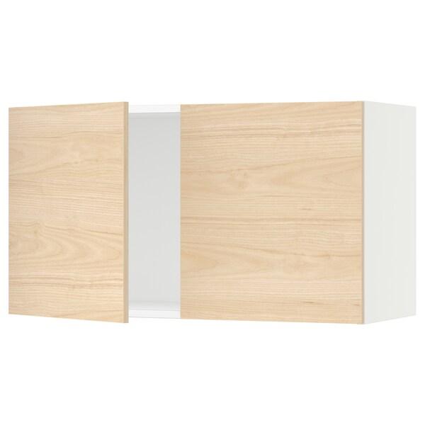 "SEKTION Armoire murale 2 portes, blanc/Askersund effet frêne clair, 36x15x20 """