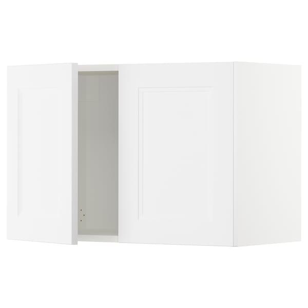 "SEKTION Armoire murale 2 portes, blanc/Axstad blanc mat, 30x15x20 """