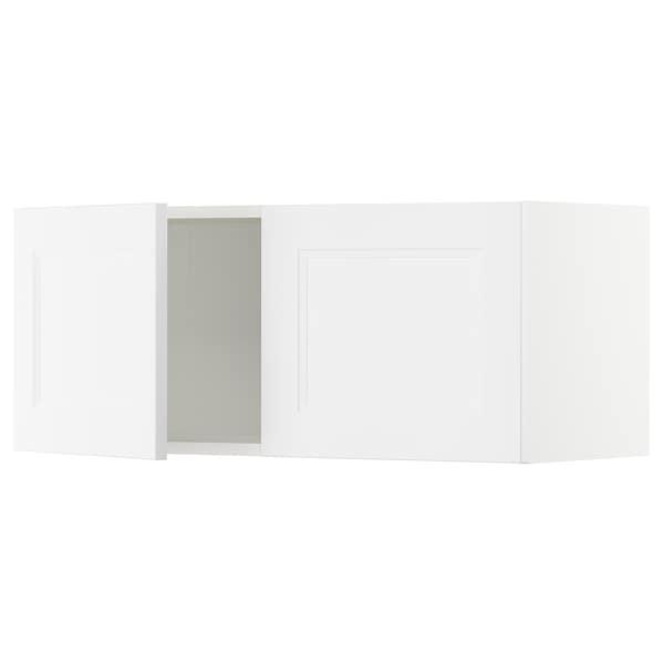 "SEKTION Armoire murale 2 portes, blanc/Axstad blanc mat, 36x15x15 """
