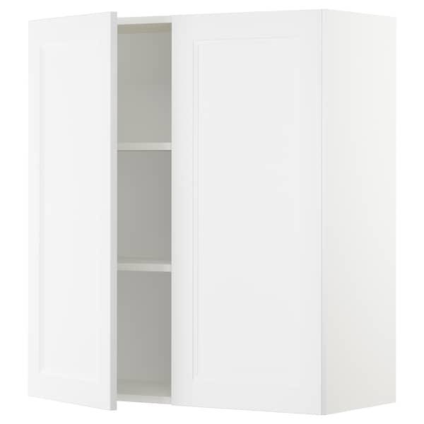 "SEKTION Armoire murale 2 portes, blanc/Axstad blanc mat, 36x15x40 """