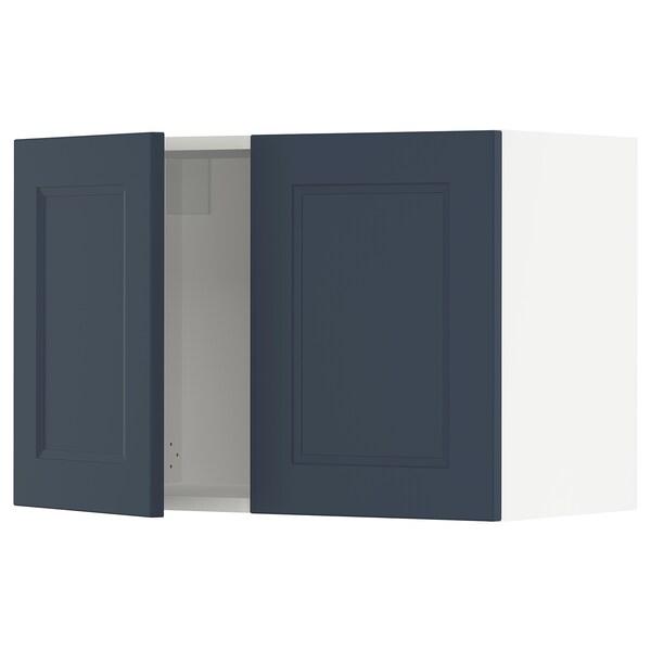 "SEKTION Armoire murale 2 portes, blanc Axstad/mat bleu, 30x15x20 """