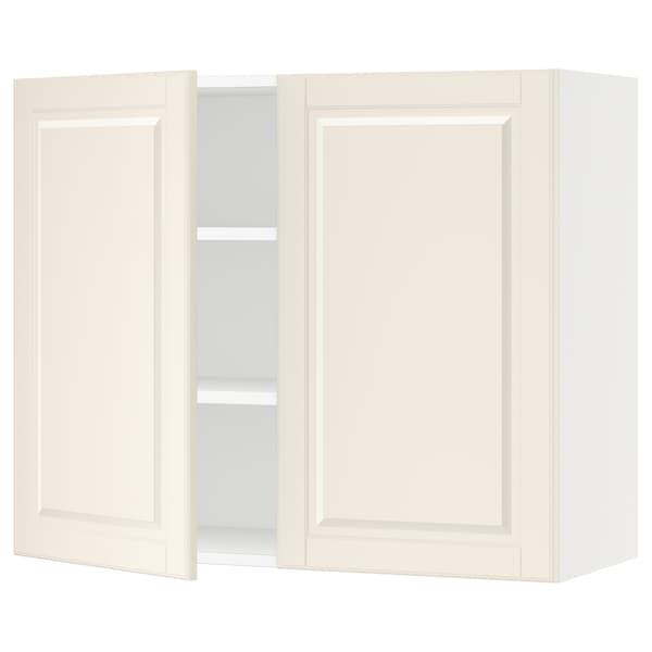 """SEKTION Armoire murale 2 portes, blanc/Bodbyn blanc cassé, 36x15x30 """""""