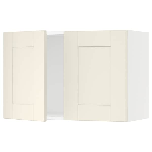 """SEKTION Armoire murale 2 portes, blanc/Grimslöv blanc cassé, 30x15x20 """""""