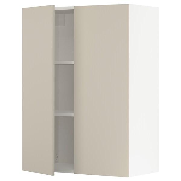 """SEKTION Armoire murale 2 portes, blanc/Havstorp beige, 30x15x40 """""""