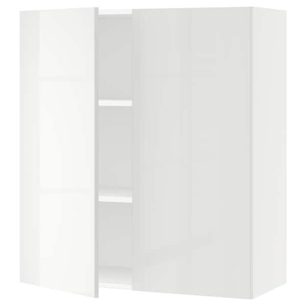 "SEKTION Armoire murale 2 portes, blanc/Ringhult blanc, 36x15x40 """