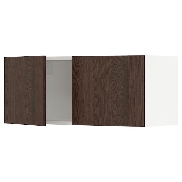 "SEKTION Armoire murale 2 portes, blanc/Sinarp brun, 36x15x15 """
