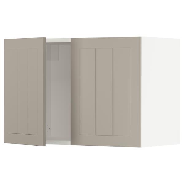 """SEKTION Armoire murale 2 portes, blanc/Stensund beige, 30x15x20 """""""