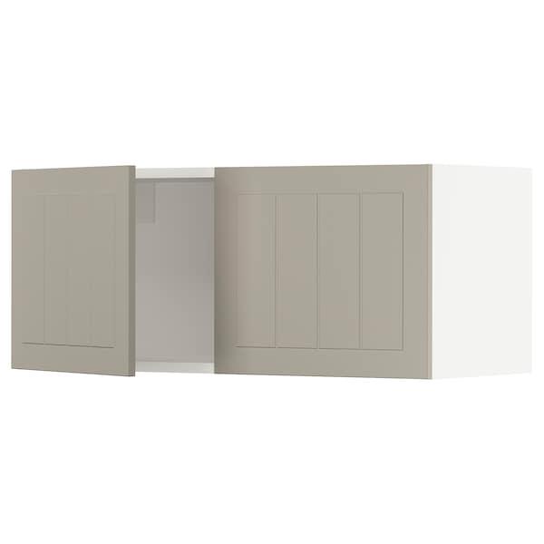 """SEKTION Armoire murale 2 portes, blanc/Stensund beige, 36x15x15 """""""