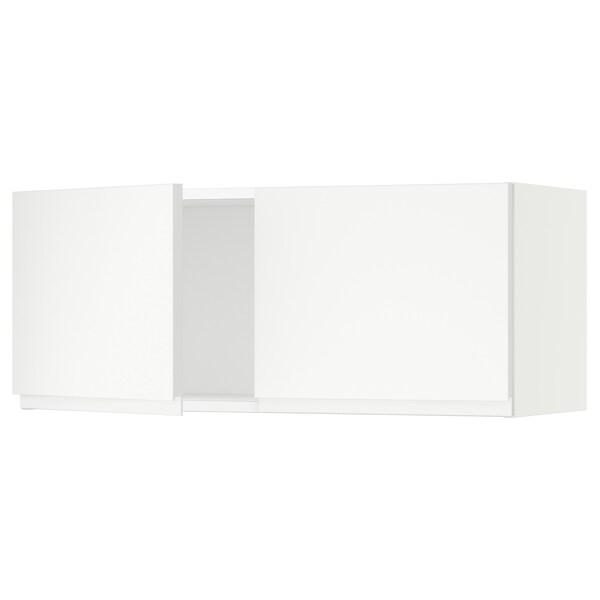 """SEKTION Armoire murale 2 portes, blanc/Voxtorp blanc mat, 36x15x15 """""""