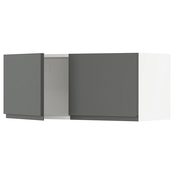 """SEKTION Armoire murale 2 portes, blanc/Voxtorp gris foncé, 36x15x15 """""""