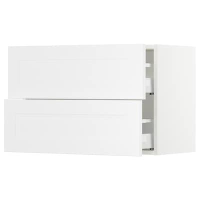 "SEKTION Armoire murale à 2 tiroirs, blanc Maximera/Axstad blanc mat, 30x15x20 """