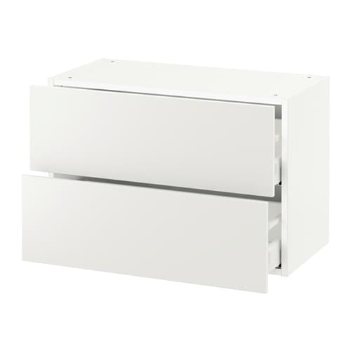 sektion armoire murale 2 tiroirs blanc h ggeby blanc 30x15x20 ikea. Black Bedroom Furniture Sets. Home Design Ideas