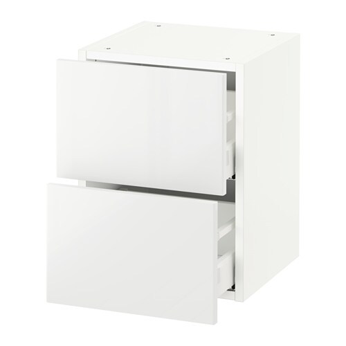 sektion armoire murale 2 tiroirs blanc ringhult ultrabrillant blanc 15x15x20 ikea. Black Bedroom Furniture Sets. Home Design Ideas