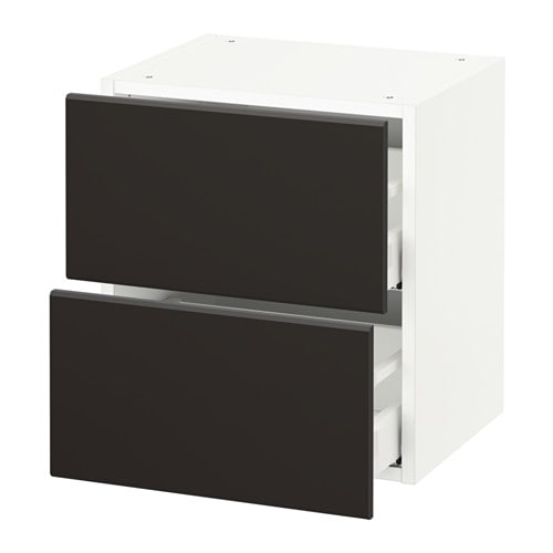 Sektion armoire murale 2 tiroirs blanc kungsbacka for Cuisine kungsbacka ikea