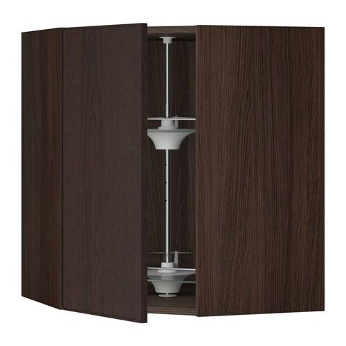 sektion armoire murale angle rgt pivotant effet bois brun ekestad brun 26x15x30 ikea. Black Bedroom Furniture Sets. Home Design Ideas