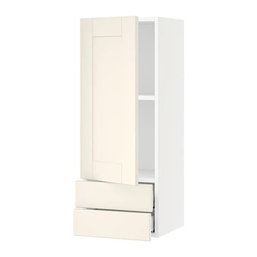 sektion armoire murale avec porte 2tiroirs blanc grimsl v blanc cass 15x15x40 ikea. Black Bedroom Furniture Sets. Home Design Ideas