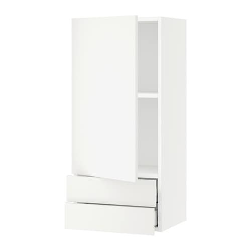 sektion armoire murale avec porte 2tiroirs blanc. Black Bedroom Furniture Sets. Home Design Ideas
