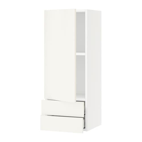 sektion armoire murale avec porte 2tiroirs blanc veddinge blanc 15x15x40 ikea. Black Bedroom Furniture Sets. Home Design Ideas