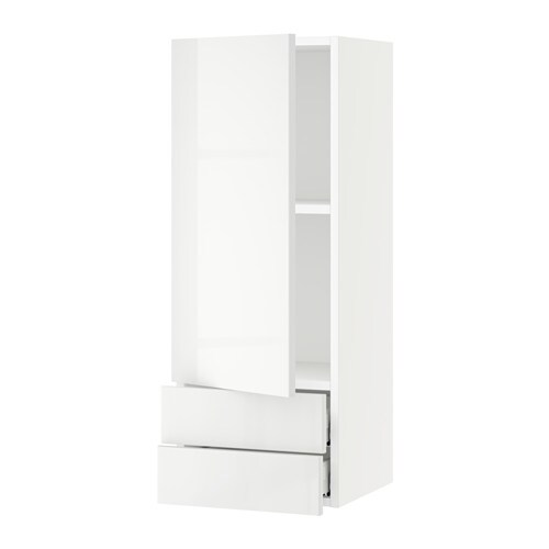 sektion armoire murale avec porte 2tiroirs blanc ringhult ultrabrillant blanc 15x15x40 ikea. Black Bedroom Furniture Sets. Home Design Ideas