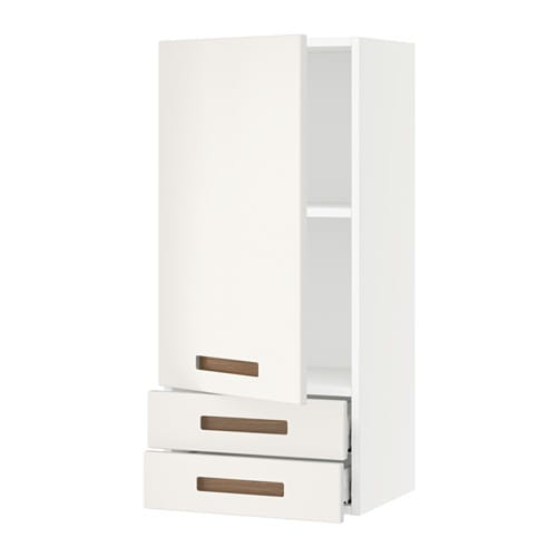 sektion armoire murale avec porte 2tiroirs blanc m rsta blanc 18x15x40 ikea. Black Bedroom Furniture Sets. Home Design Ideas