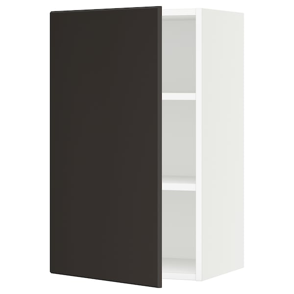 """SEKTION Armoire murale, blanc/Kungsbacka anthracite, 18x15x30 """""""
