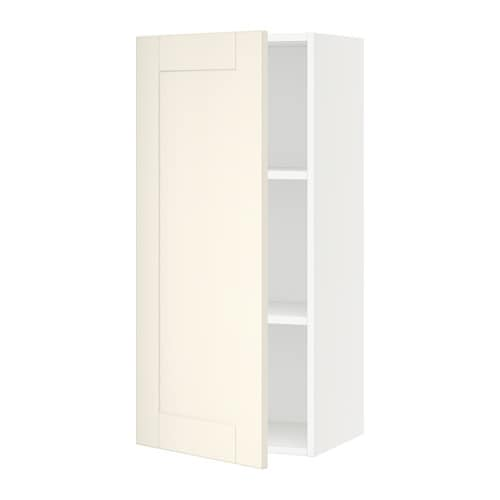 sektion armoire murale blanc grimsl v blanc cass. Black Bedroom Furniture Sets. Home Design Ideas