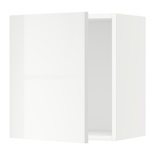 sektion armoire murale blanc ringhult ultrabrillant. Black Bedroom Furniture Sets. Home Design Ideas